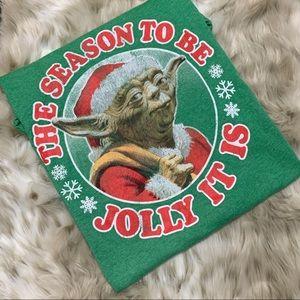 Yoda Christmas t shirt